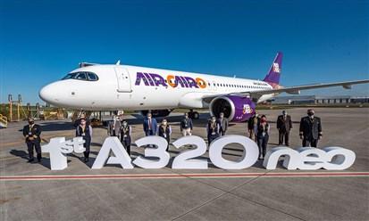 """""""إير كايرو"""" تستلم أولى طائراتها من طراز A320neo"""