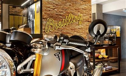 شراكة جديدة بين Breitling وصانع الدراجات البريطاني TRIUMPH