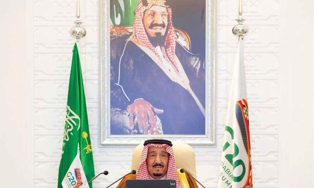 الملك سلمان بن عبد العزيز: مجموعة العشرين قدمت 20 مليار دولار بمواجهة الجائحة